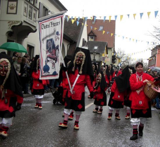 Le groupe en défilé à Donaueschingen