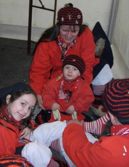 Regina avec les enfants à Saverne