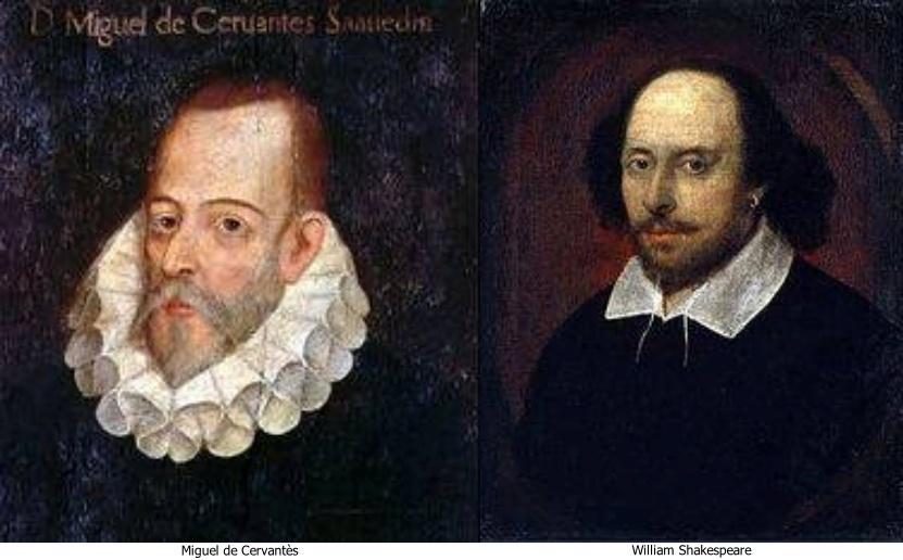 Miguel de cervantes et william shakespeare